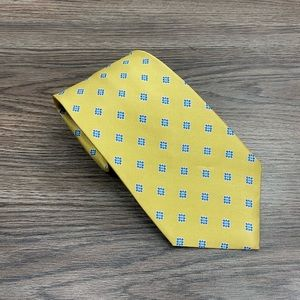 Brooks Brothers Gold w/ Blue & Teal Check Tie